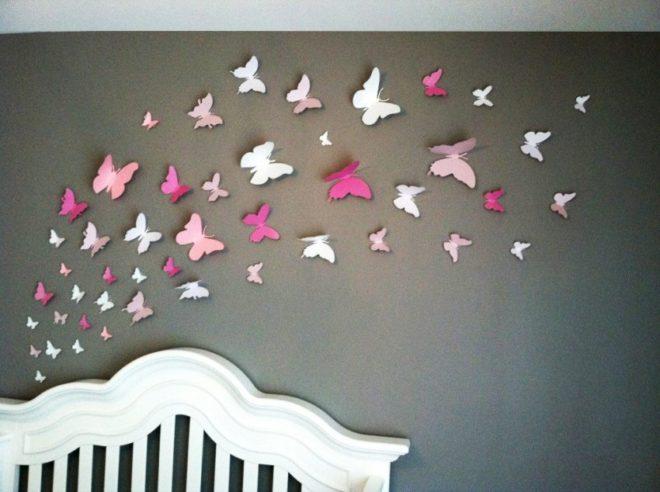 бумажные бабочки на стену