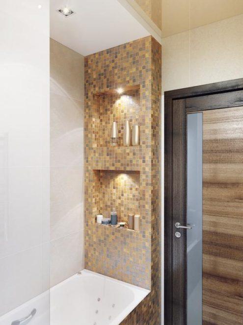ниши в стене ванной