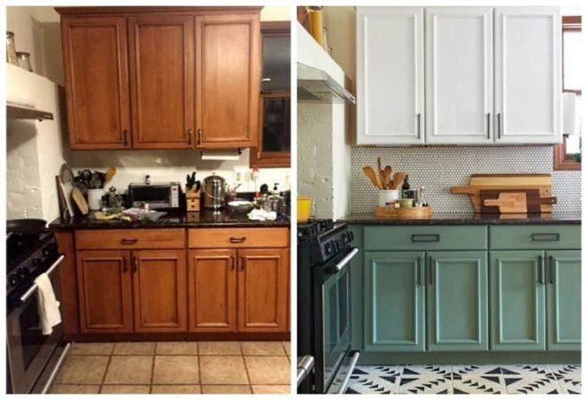 Обновление устаревшей кухонной мебели