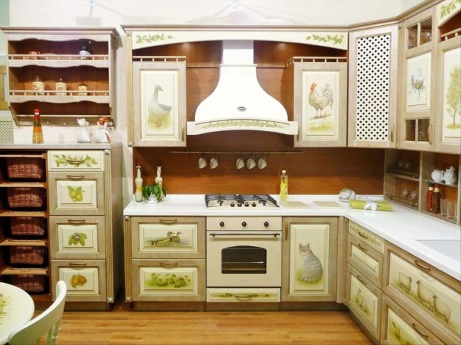 Обновлённые дверцы старого кухонного гарнитура