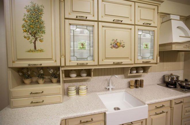 Декорирование старого кухонного гарнитура