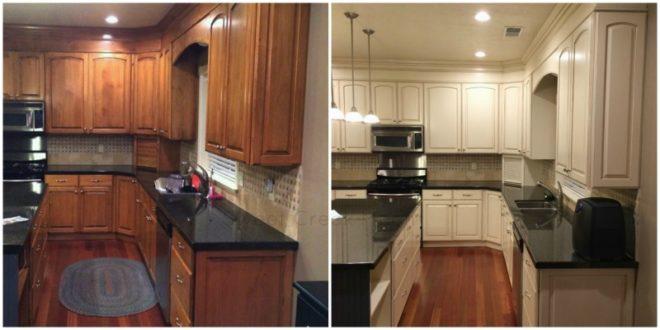Новая окраска старого кухонного гарнитура