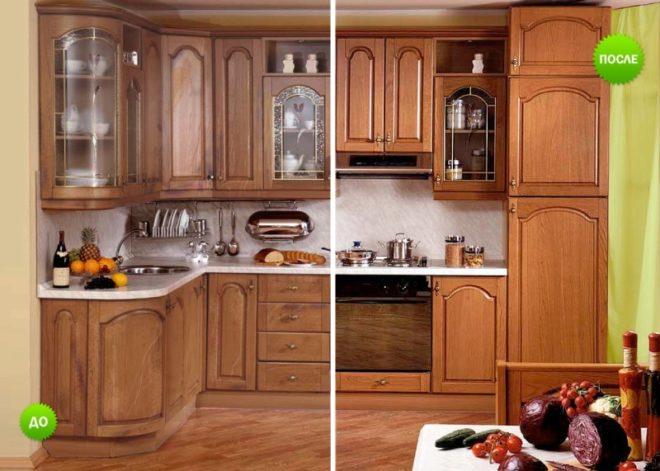 Новый фасад для старого кухонного гарнитура