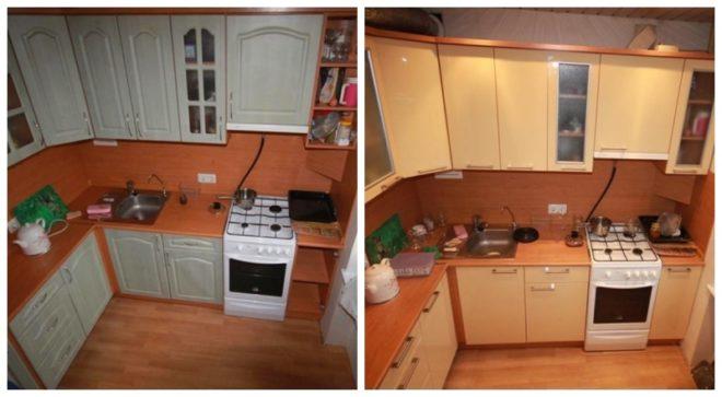 Обновлённая кухонная мебель