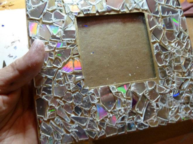 Рамочка из старого зеркала своими руками