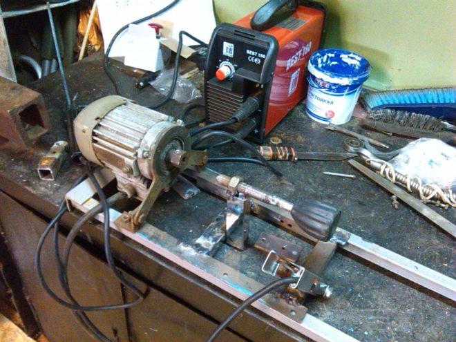 Токарное оборудование из двигателя от стиральной машины