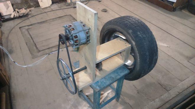 Полирующий станок из двигателя от стиральной машины