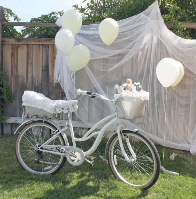 использование старого велосипеда для фотосъёмок