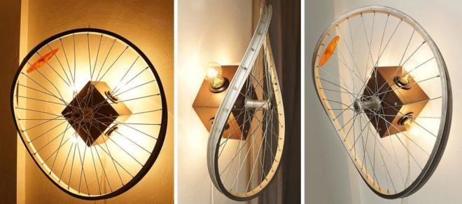 предметы декора из старого велосипеда