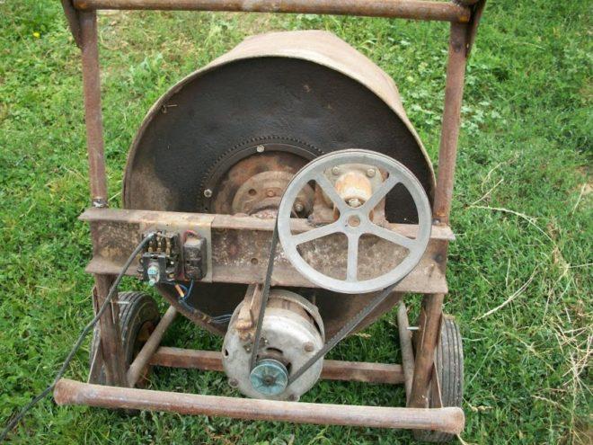 Бетономешалка из двигателя от стиральной машины