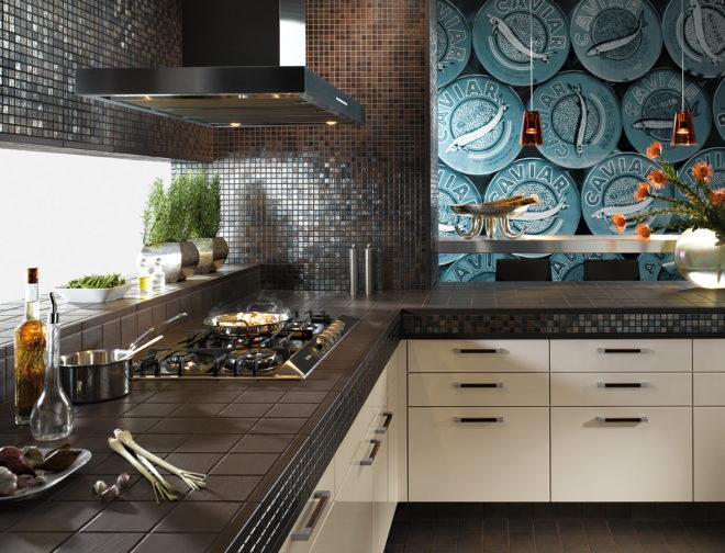 мозаика в отделке кухни