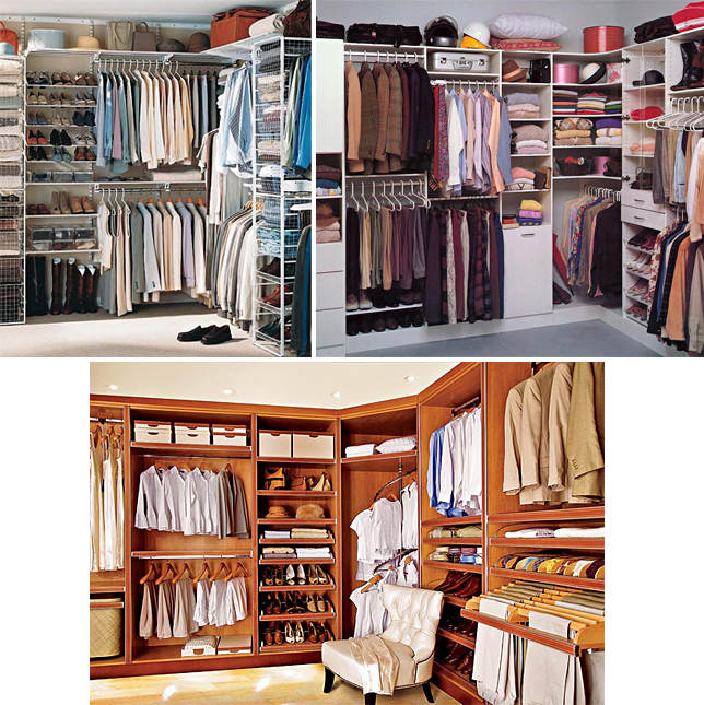 сортировка вещей в гардеробе