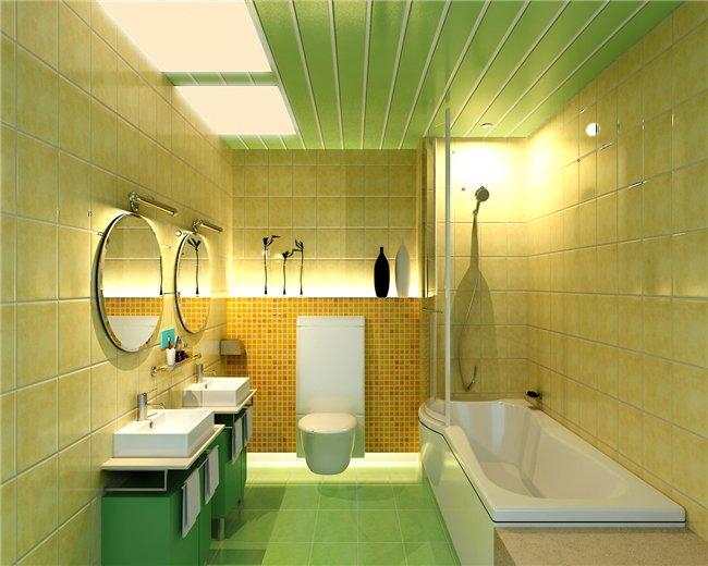 Пластиковый потолок в ванной
