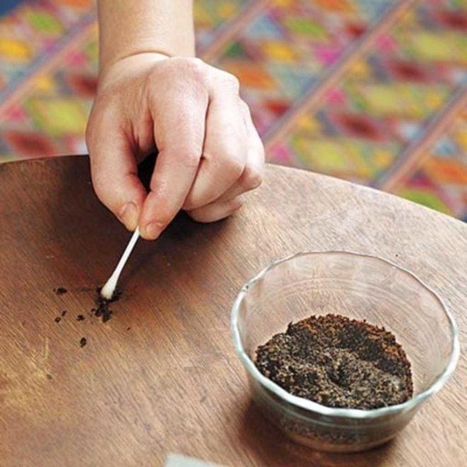 Кофе против царапин на столе