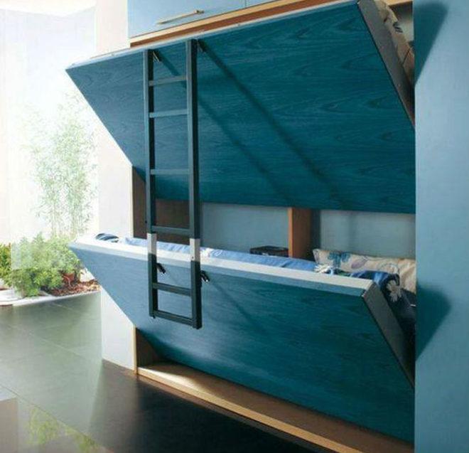 Экономия пространства с помощью скрытой мебели