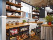 Открытые полки на кухне своими руками