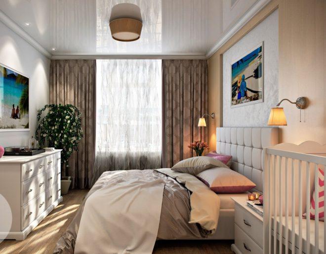 Спальня родителей и малыша