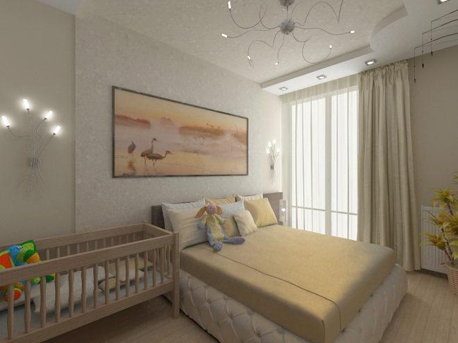 Спальня родителей и малыша: идеи на фото
