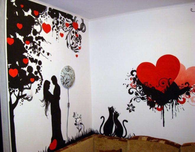 Трафареты для стен романтические