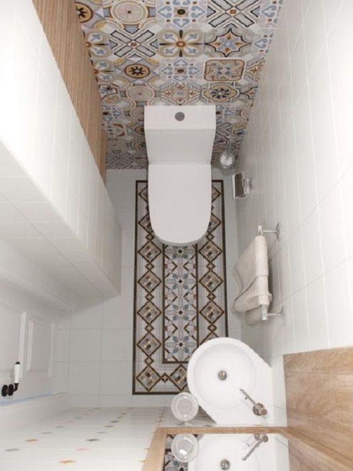 Современный дизайн маленького туалета: подборка фото