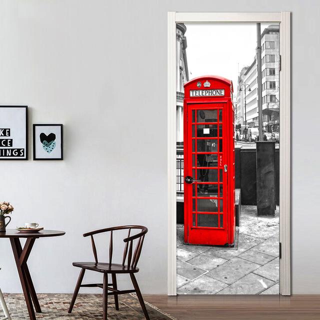 Фотообои на дверь: лучшие идеи