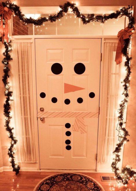 Как украсить дверь на Новый 2019 год
