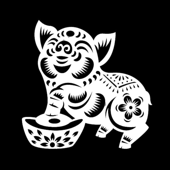 Трафарет свиньи