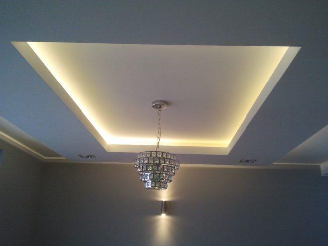 Фото многоуровневого потолка из гипсокартона
