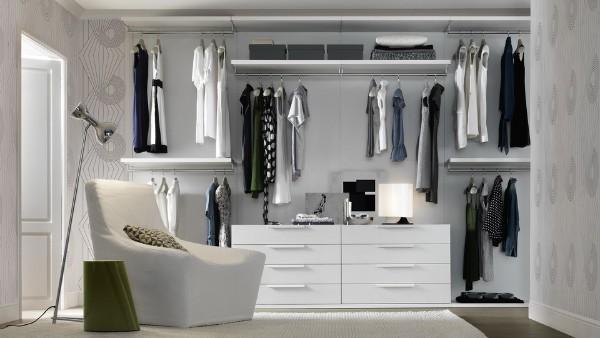 Линейное расположение гардеробной