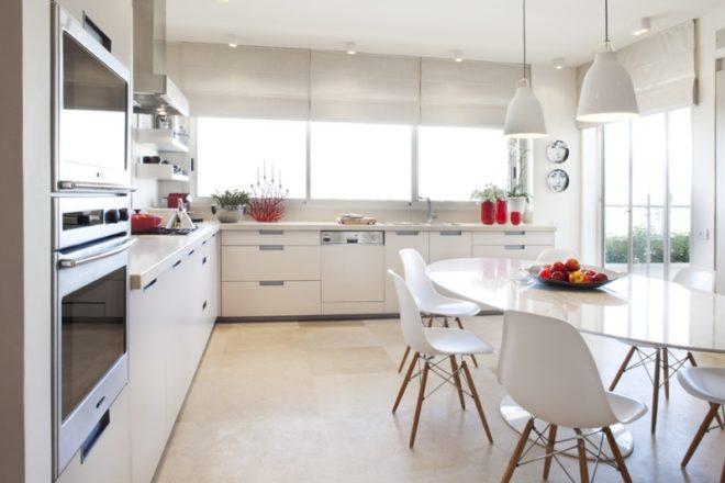 Дизайн белой кухни в стиле модерн