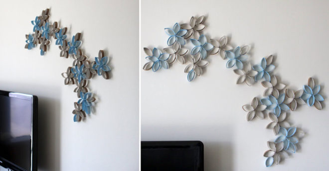 декор стены своими руками из подручных материалов