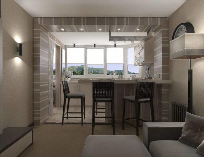 Дизайн студии 25 кв. м с балконом: идеи на фото