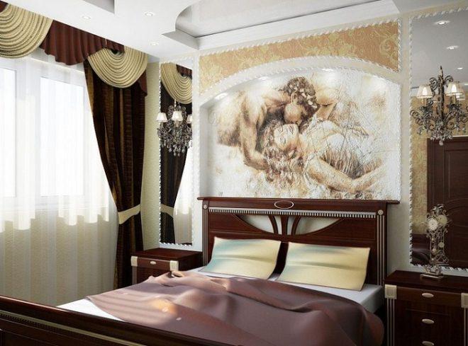 Фрески на стенах в интерьере: 17 фото