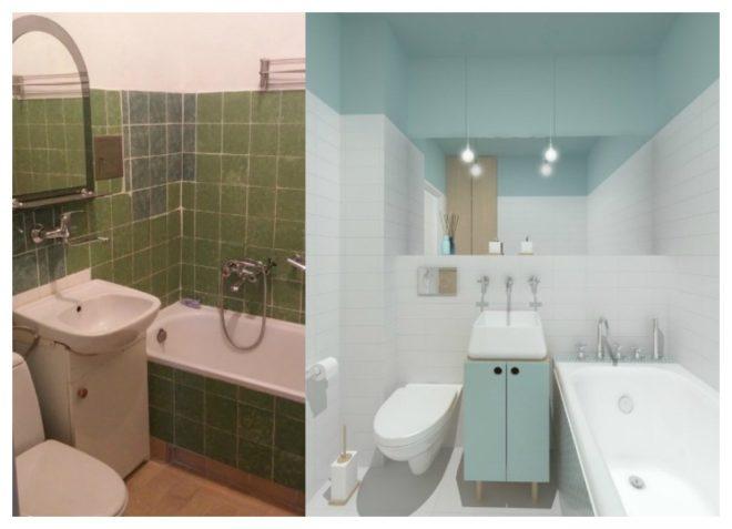 Фото ванных комнат и туалетов после ремонта: лучшее преображение на фото