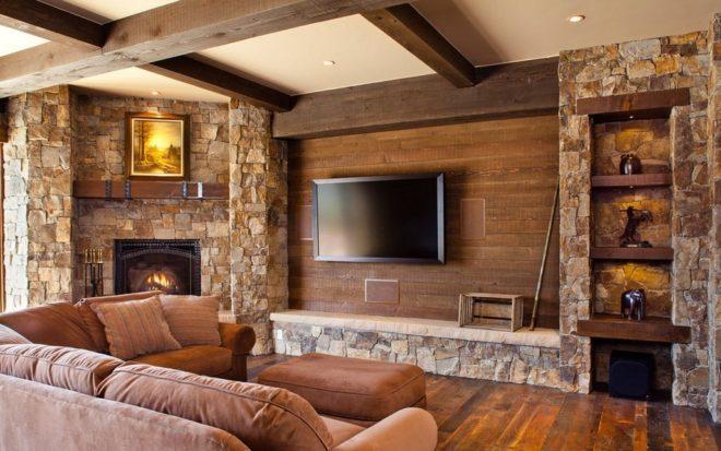 Внутренняя отделка дома из дерева