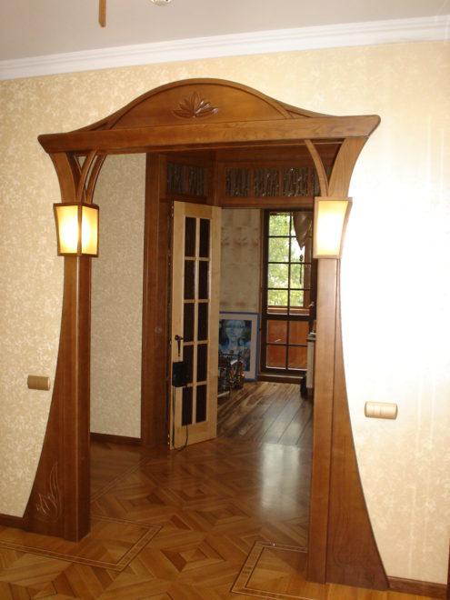 Оформление дверного проёма без двери