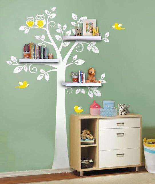 Полки в детской в виде дерева
