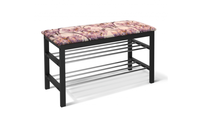 Банкетка с металлическими элементами