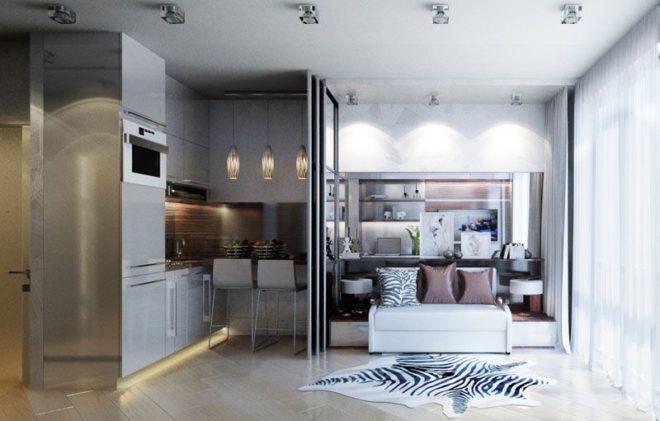 Планировка квартиры-студии 30 кв. м