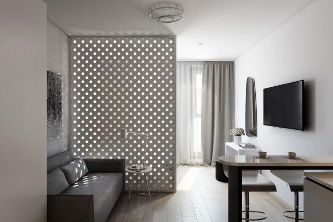 Квартира-студия в светлых тонах