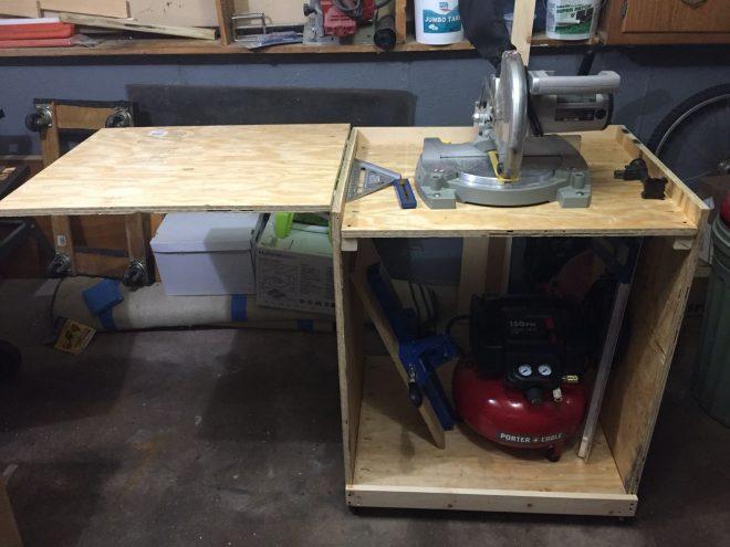 Самодельный стол под торцовочную пилу