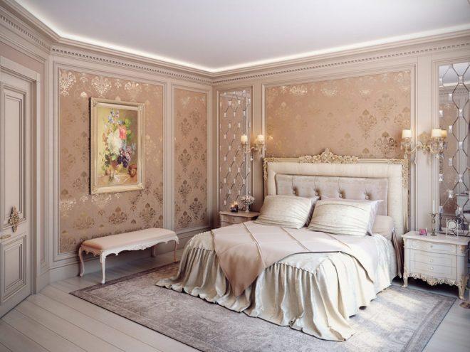 Узорчатые стены и картины в интерьере
