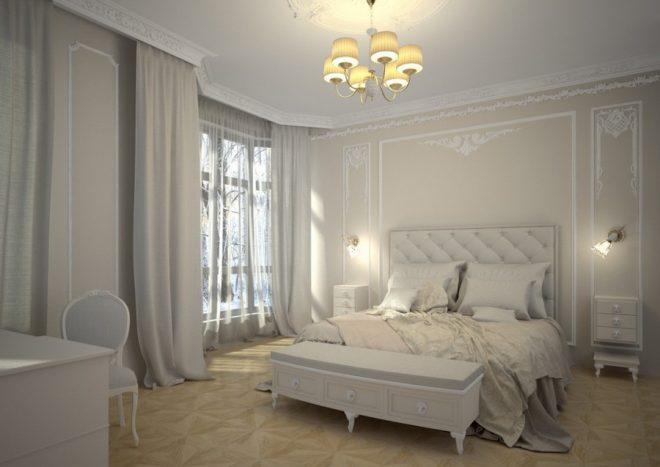 Комната в светлых тонах