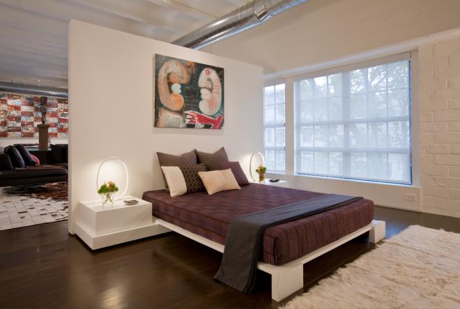 Разделение комнаты на спальню и гостиную гипсокартонной перегородкой