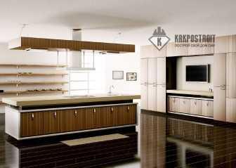 Дизайн кухни с встраиваемой техникой