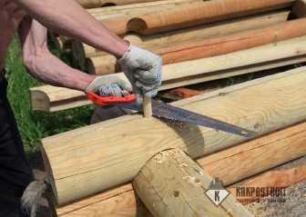 Как собрать сруб для бани