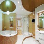 Натяжной потолок в ванной и отзывы о нем