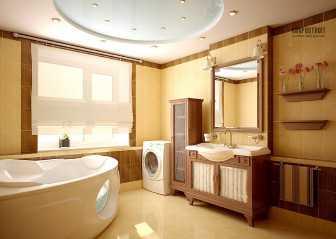 Натяжной потолок в ванной: отзывы после эксплуатации