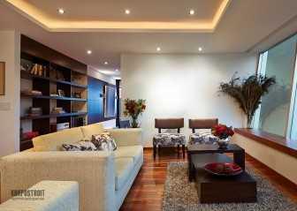 Потолки с гипсокартона с подсветкой: фото интерьеров