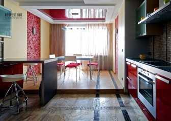 Натяжной потолок на кухне: отзывы  домочадцев